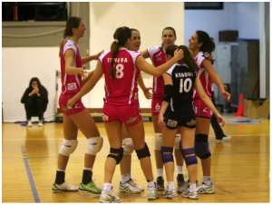 Womens Volley : Vrilisia 0-3 Olympiakos